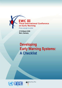Developing Early Warning Systems: A Checklist