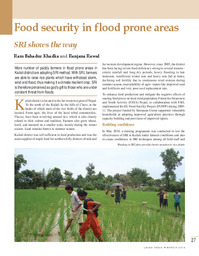 Food security in flood prone areas
