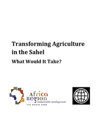 Transforming Agriculture in the Sahel What Would It Take?