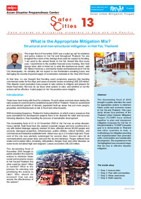 Case Studies on mitigating disasters in Asia and the Pacific, What is the Appropriate Mitigation Mix? Structural and non-structural mitigation in Hat Yai, Thailand