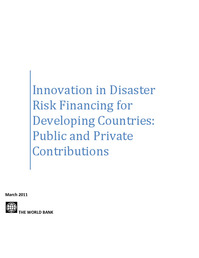 Innovation in Disaster Risk Financing for Developing Countries: Public and Private Contributions