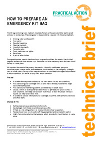 How to prepare an emergency kit bag