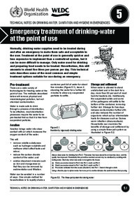 Emergency treatment of drinking-water at the point of use