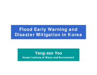 Flood early warning and disaster mitigation in Korea