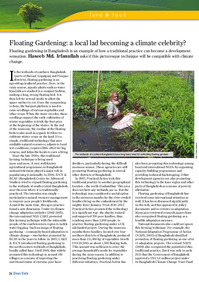 Floating Gardening: a local lad becoming a climate celebrity?